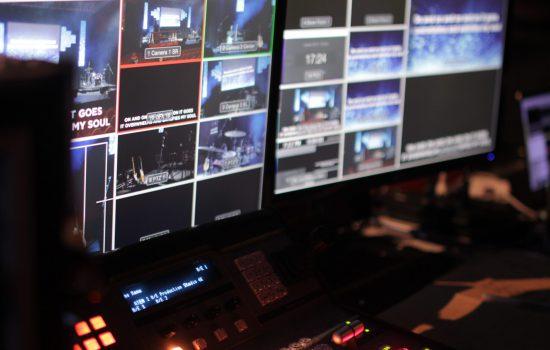 mobiele studio voor een online talkshow